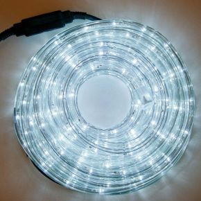 Eurolamp Φωτοσωλήνας LED Μονοκάναλος Λευκός 13.6W IP44 10m