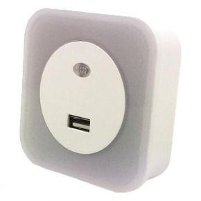 Eurolamp Φωτάκι Νυκτός LED 1.5W 220-240V Με USB Και Φωτοκύτταρο