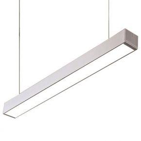 Eurolamp LED Γραμμικό Φωτιστικό Εξωτερικό 48W Pro Nickel Mat