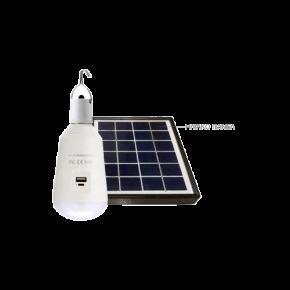 Eurolamp LED Λάμπα 7W E27 SMD με ηλιακό Πάνελ