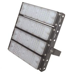 Eurolamp LED Προβολέας SMD 4X50 200W AC100-240V IP65 PLUS Μαύρος