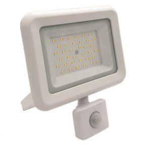 Eurolamp LED Προβολέας SMD Με Περιστρεφόμενο Ανιχνευτή Κίνησης 30W IP44 PLUS Λευκός
