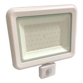 Eurolamp LED Προβολέας SMD Με Περιστρεφόμενο Ανιχνευτή Κίνησης 50W IP44 PLUS Λευκός