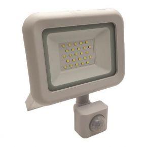 Eurolamp LED Προβολέας SMD Με Περιστρεφόμενο Ανιχνευτή Κίνησης Λευκός IP44 PLUS
