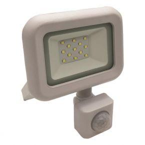 Eurolamp LED Προβολέας  SMD Με Περιστρεφόμενο Ανιχνευτή Κίνησης Λευκός 10W IP44 PLUS