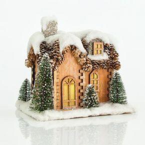 Eurolamp LED Σπιτάκι Χιονισμένο 23X19X22CM