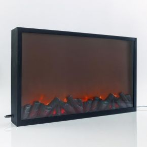 Eurolamp LED Τζάκι Μεταλλικό Μαύρο Με Εφέ Φλόγας 82X12X50CM