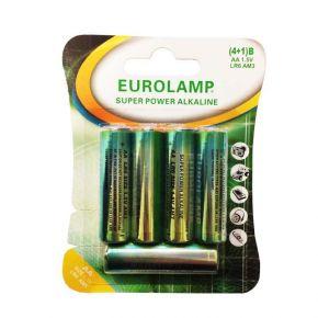 Eurolamp Μπαταρία Αλκαλική 1.5V ΑΑ LR6 (4+1)