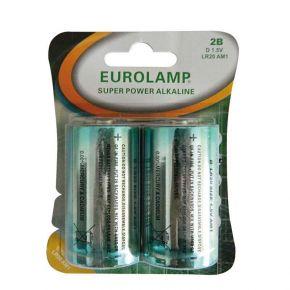 Eurolamp Μπαταρία Αλκαλική 1.5V D LR20