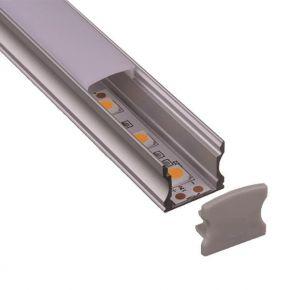 Eurolamp Προφίλ Αλουμινίου LED Εξωτερικό 45° 2m