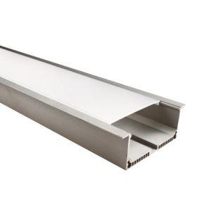 Eurolamp Προφίλ Αλουμινίου Χωνευτό για 4 LED Ταινίες 2m