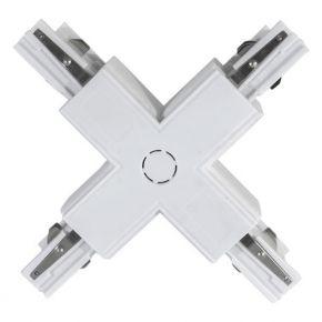 Eurolamp Σύνδεσμος Ράγας Universal 4 Γραμμών Σταυρός