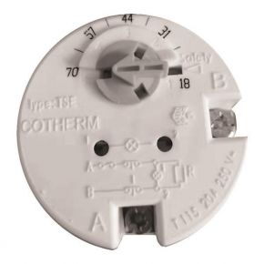 Eurolamp Θερμοστάτης Θερμοσιφώνου Κουμπωτός