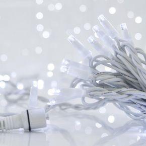 Eurolamp 100 LED Σε Σειρά Με Επέκταση Και Λευκό Καλώδιο IP65