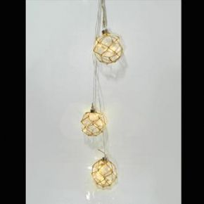 Eurolamp Διακοσμητικές Μπάλες με Σχοινί Μπουκέτο 10 LED Μπαταρίας