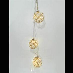 Eurolamp Διακοσμητικές Μπάλες με Σχοινί Μπουκέτο 10 LED με Μετασχηματιστή