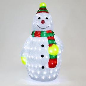 Eurolamp Ακρυλικός Χιονάνθρωπος με 160 LED IP44