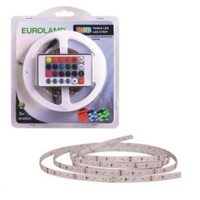 Eurolamp LED 3 Μέτρων 10W+Driver+Control 12V RGB IP20 Blister Value