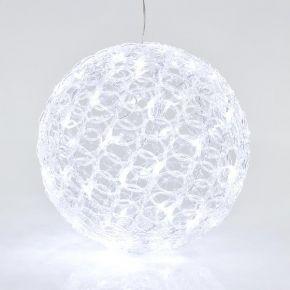 Eurolamp 60 LED Ακρυλική Μπάλα Με Μετασχηματιστή 30cm IP44