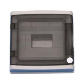 Eurolamp 940.08 Πίνακας Εξωτερικός Με Πόρτα 8 Θέσεων IP65 Γκρί