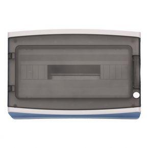 Eurolamp 940.18 Πίνακας Εξωτερικός Με Πόρτα 18 Θέσεων IP65 Γκρί
