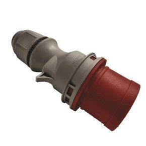 Eurolamp Φις Αρσενικό Βιομηχανικού Τύπου 5x16A 380-415V IP44 Κόκκινο-Γκρί