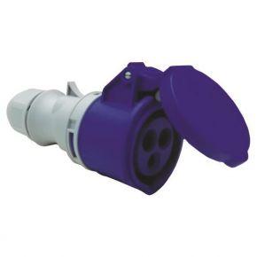 Eurolamp Φις Θηλυκό Βιομηχανικού Τύπου 3x16A 220-240V IP44 Μπλέ-Γκρί