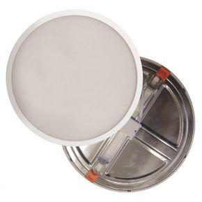 Eurolamp Φωτιστικό LED 20W Με Ρυθμιζόμενη Εγκοπή Απο Φ50-210MM Λευκό Plus