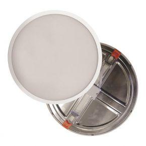 Eurolamp Φωτιστικό LED 8W Με Ρυθμιζόμενη Εγκοπή Απο Φ50-115MM Λευκο PLUS