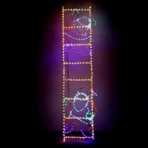 Eurolamp LED Άγιος Βασίλης Σε Σκάλα Με 23m 200X50CM Με Πρόγραμμα