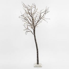 Eurolamp LED Δέντρο Χιονισμένο 176 LED Θερμό Λευκό 250cm IP20