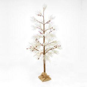 Eurolamp LED Δέντρο Χιονισμένο Με Berry Θερμό Λευκό 180cm