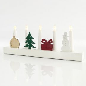 Eurolamp LED Κηροπήγιο με Χριστουγεννιάτικα Σχέδια 38,5X5X14,5CM