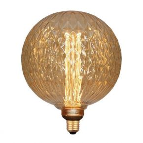 Eurolamp LED Λάμπα 3.5W E27 G200 Gold Glass Filament Dimmable