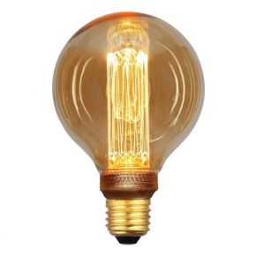 Eurolamp LED Λάμπα 3.5W E27 G95 Gold Glass Filament Dimmable