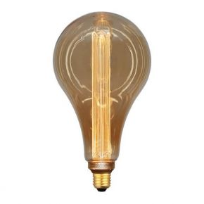 Eurolamp LED Λάμπα 3.5W E27 P165 Gold Glass Filament Dimmable