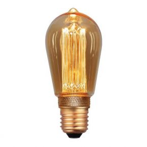 Eurolamp LED Λάμπα 3.5W E27 ST64 Gold Glass Filament Dimmable