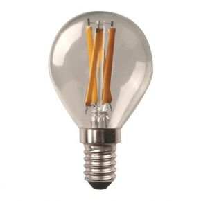 Eurolamp LED Λάμπα Σφαιρική Crossed Filament 6.5W E14 Clear Dimmable