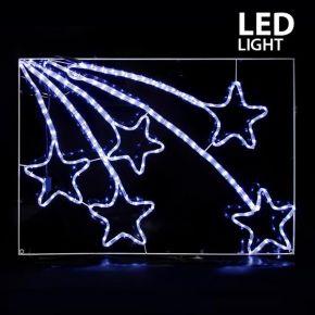 Eurolamp LED Μετεωρίτες Λευκοί 110x75cm IP44