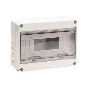 Eurolamp Πίνακας Εξωτερικός Με Πόρτα 12 Θέσεων IP65 Γκρί