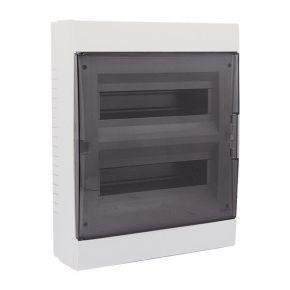 Eurolamp Πίνακας Εξωτερικός Με Πόρτα 24 Θέσεων IP40 Γκρί