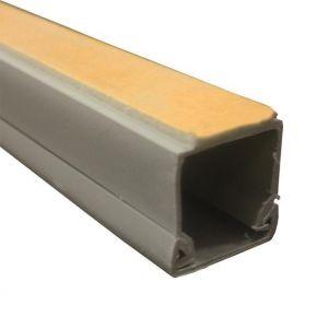 Eurolamp Πλαστικό Κανάλι 16x16mm Αυτοκόλλητο TPS Ασημί No1 IP40 2m