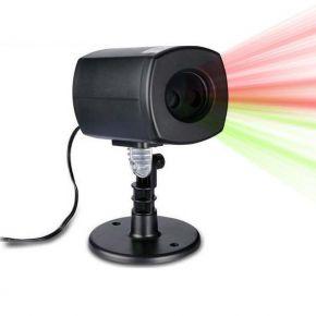 Eurolamp Προτζέκτορας Laser με Φωτοκύτταρο και Πρόγραμμα Κόκκινο-Πράσινο Με Σχέδια IP44