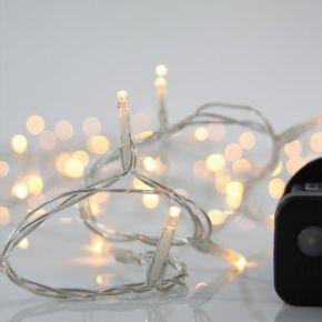 Eurolamp Σειρά, 240 LED 3MM, 31V, 8 Προγράμματα, Διάφανο Καλώδιο, LED Ανα 5CM, ΙΡ44