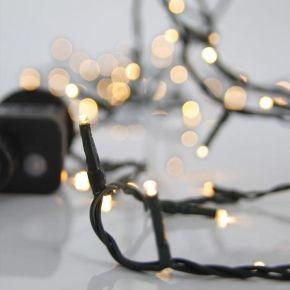 Eurolamp Σειρά, 240 LED 3MM 31V 8 Πρόγραμμα Πράσινο Καλώδιο Θερμό Λευκό LED Ανα 5CM IP44
