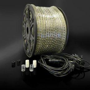 Eurolamp Set 5τμχ Καλώδιο 1.5m, Τάπα & Σύνδεσμος Για LED Δικάναλο Φωτοσωλήνα IP44
