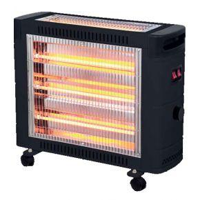 Eurolamp Θερμάστρα Χαλαζία Με Θερμοστάτη 2800W IP20 Μαύρο