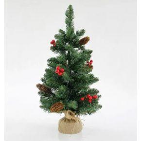 Eurolamp Χριστουγεννιάτικο Δέντρο Στολισμένο Πράσινο 60cm