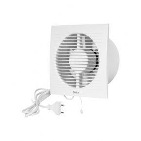 Europlast Εξαεριστήρας Μπάνιου Με Καλώδιο/Φις Και Διακόπτη – Κορδονάκι EE150WP