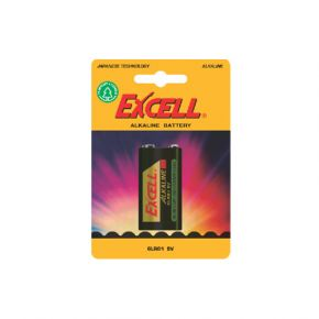 EXCELL Μπαταρία Αλκαλική 9V 6LR61